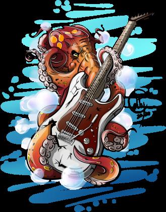 Ośmiornica gitara elektryczna - jasna