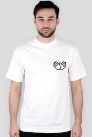 """Koszulka """"Znak gołębia na sercu"""" Biała"""