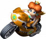 Mario - Daisy na motocyklu