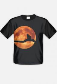 "koszulka "" kot i pełnia"""