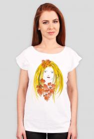 """koszulka """" jesienna dziewczyna"""""""