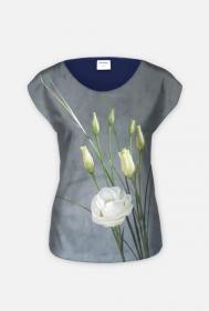 "koszulka  "" białe róże"""