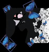 """koszulka """" błękitne motyle"""""""