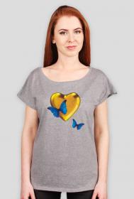 """koszulka """" złote serce"""""""