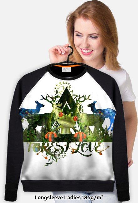 BLUZA DLA NAJMŁODSZYCH FOREST LOVE