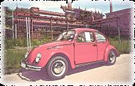 VW Beetle V4 - cartoon (woman t-shirt)