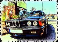 BMW E24 M635i - cartoon (koszulka męska)