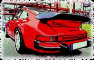 Porsche Carrera - cartoon (woman t-shirt)