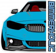 Bimmerholic M4 widebody - Blue (men hoodie)