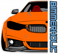 Bimmerholic M4 widebody - Orange (men t-shirt)