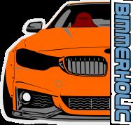 Bimmerholic M4 widebody - Orange (men sweatshirt)