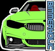 Bimmerholic M4 widebody - Green (men t-shirt)