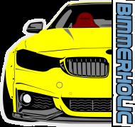 Bimmerholic M4 widebody - Yellow (men t-shirt)