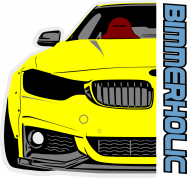 Bimmerholic M4 widebody - Yellow (men sweatshirt)