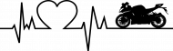 Linia życia - Motocykl (bluzka damska v-neck) cg