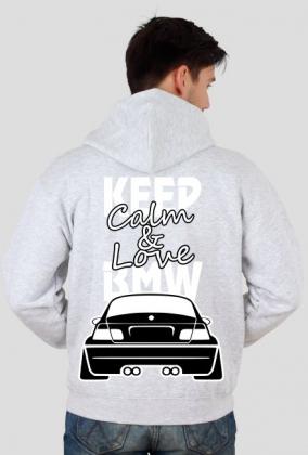 M3 E46 - Keep Calm and Love BMW (bluza męska rozpinana kapturowa) jasna grafika