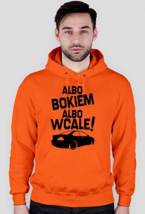 Albo bokiem albo wcale - BMW E46 (bluza męska kapturowa) ciemna grafika