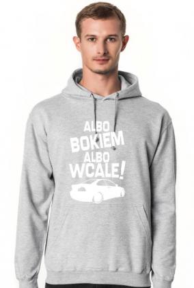 Albo bokiem albo wcale - BMW E46 (bluza męska kapturowa) jasna grafika