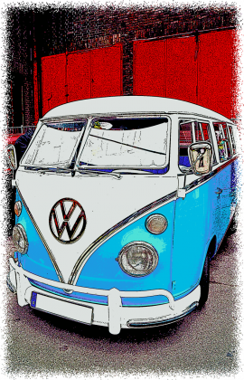 VW Bulli - cartoon (men t-shirt)