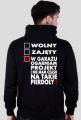 Wolny, Zajęty - Ogarniam Projekt (bluza męska kapturowa) jasna grafika