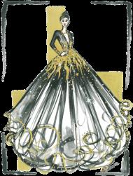 Podkładka pod myszkę Lśniąca Suknia