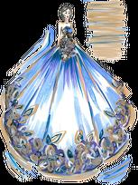 Podkładka pod kubek Niebieska suknia z kwiatami