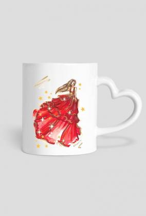 Świąteczny kubek z ilustracją mody