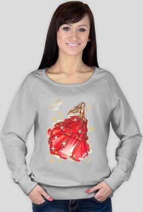 Bluza ze świąteczną ilustracją mody