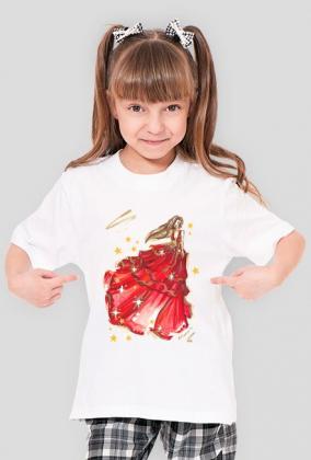 Koszulka ze świąteczną ilustracją mody II