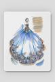 Podkładka pod myszkę Niebieska suknia z kwiatami