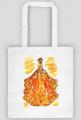 Torba z ilustracją mody - jesienną suknią