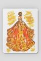 Podkładka pod myszkę z ilustracją mody - jesienną suknią