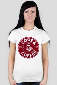 """Koszulka damska """"Code & Coffee"""""""