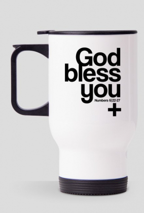 God bless you - kubek termiczny