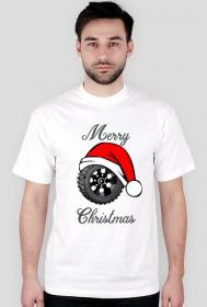 Świąteczna opona - męska koszulka świąteczna