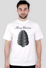 Choinka z opon - męska koszulka świąteczna