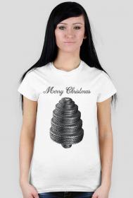 Choinka z opon - damska koszulka świąteczna