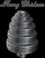 Choinka z opon - kubek świąteczny