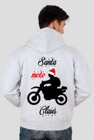Santa moto claus - bluza męska świąteczna
