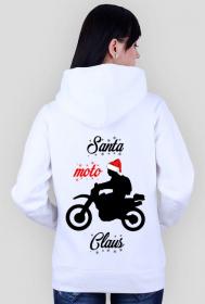 Santa moto claus - bluza damska świąteczna