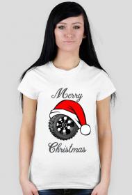 Świąteczna opona - damska koszulka świąteczna
