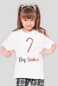 Big Sister - koszulka dziewczęca świąteczna