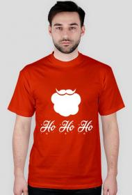 Broda mikołaja - męska koszulka świąteczna