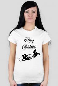 Merry Christmas - damska koszulka świąteczna