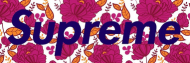 Supreme box logo kwiaty (tee damski)
