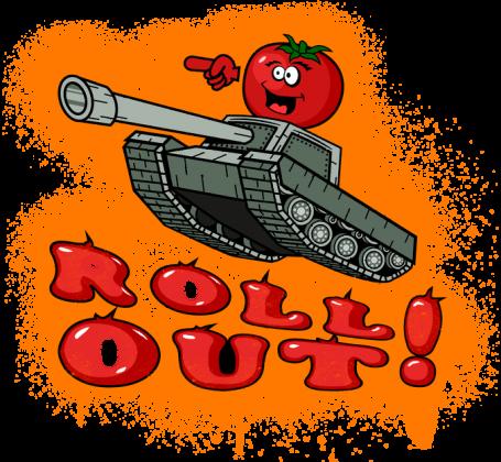 ROLL OUT TOMATO TEAM KOSZULKA MĘSKA PREMIUM