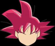 Dragon Ball Goku SSJ God - Bluza męska college baseball