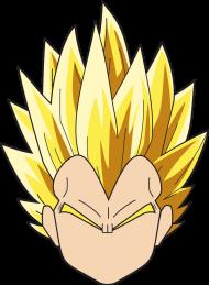 Dragon Ball Vegeta SSJ - Bluza męska college baseball