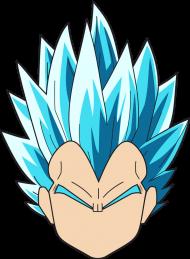 Dragon Ball Vegeta Super Sayian Blue - Bluza męska college baseball
