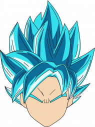 Dragon Ball Goku Super Sayian Blue - Bluza męska college baseball